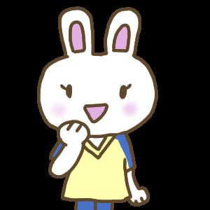 ナース服を着た白いウサギ