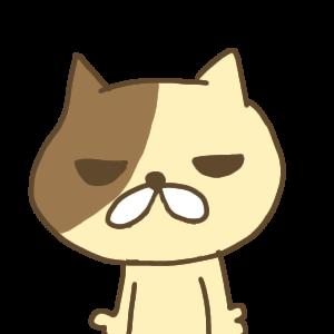 目が死んでる猫